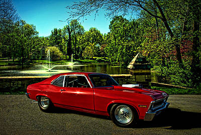 Photograph - 1972 Nova Dragster by Tim McCullough