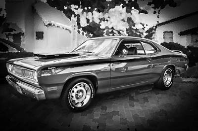 Photograph - 1972 Plymouth 340 Duster Bw by Rich Franco