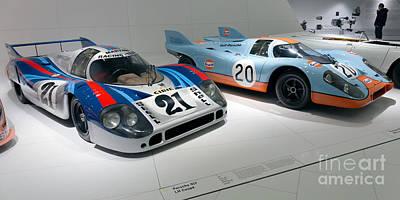 1972 Porsche 917 Lh Coupe And 1970 Porsche 917 Kh Coupe Art Print