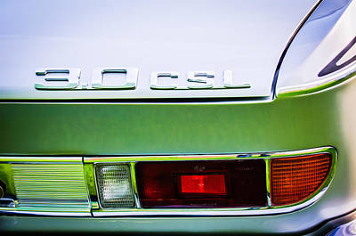 Tail Photograph - 1973 Bmw 3.0 Csl Side Taillight Emblem -1298c by Jill Reger