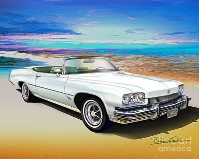 Buick Drawing - 1973 Buick Centurion 455 by Danny Whitfield