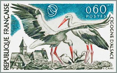 1973 Cigogne Alsace Print by Lanjee Chee