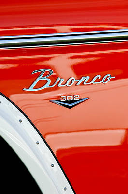 Photograph - 1973 Ford Bronco Custom 2 Door Emblem by Jill Reger