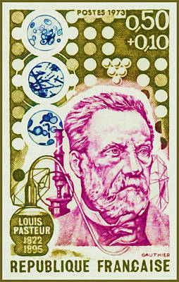 Bacteria Painting - 1973 Louis Pasteur 1822-1895 by Lanjee Chee