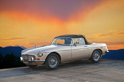 1973 Mgb Roadster Art Print by Dave Koontz