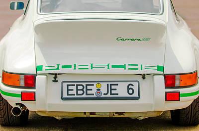 Lightweight Photograph - 1973 Porsche 911 Rs Lightweight Rear Emblems by Jill Reger