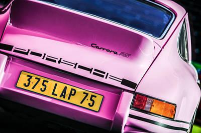 Photograph - 1973 Porsche 911 Rs Rsr Taillight Emblem -1480p by Jill Reger