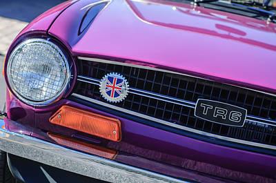 Photograph - 1973 Triumph Tr6 Grille Emblem -0837c by Jill Reger