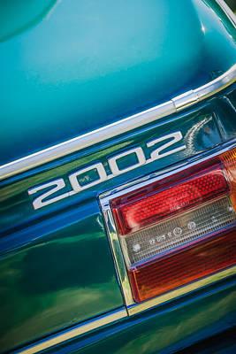 Photograph - 1974 Bmw 2002 Taillight Emblem -2358c by Jill Reger
