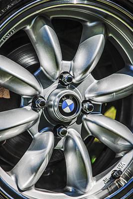 Photograph - 1974 Bmw 2002 Wheel Emblem -2416c by Jill Reger