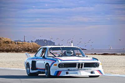 Bmw Racing Car Photograph - 1974 Bmw 3.5csl Gt by Dave Koontz