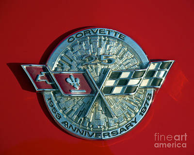 Photograph - 1974 Chevy Corvette Logo by Mark Dodd