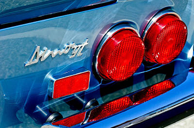 Photograph - 1974 Ferrari Dino Targa Gts Taillight Emblem by Jill Reger