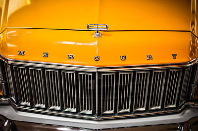 Photograph - 1974 Mercury Grand Marquis Wagon Grille Emblem -0227c by Jill Reger
