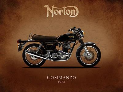 1974 Norton Commando Art Print by Mark Rogan