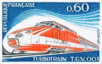 Calvados Painting - 1974 Turbotrain T.g.v. 001 by Lanjee Chee