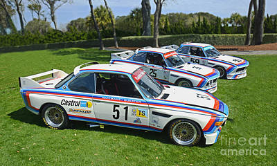 Bmw Racing Classic Bmw Photograph - 1975 Bmw Csl Race Cars by Tad Gage