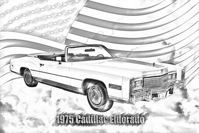Photograph - 1975 Cadillac Eldorado Convertible Illustration by Keith Webber Jr