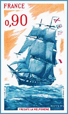 Charente Maritime Painting - 1975 Commander Melpomene by Lanjee Chee