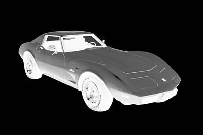 Photograph - 1975 Corvette Stingray Sports Car Art by Keith Webber Jr