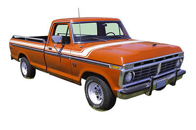 Antique Automobiles Photograph - 1975 Ford F100 Explorer Pickup Truck by Keith Webber Jr
