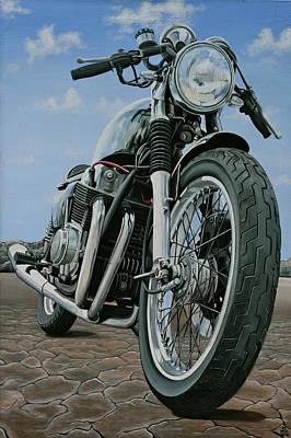 Painting - 1975 Honda Cafe Racer by Branden Hochstetler