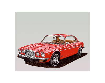 Car Jacking Painting - 1975 Jaguar Xj 6 C by Jack Pumphrey