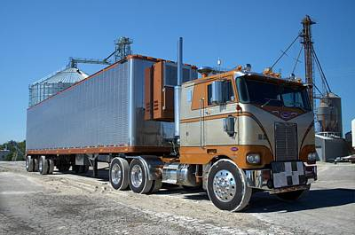 Photograph - 1975 Peterbilt Cab Over Semi Truck by Tim McCullough