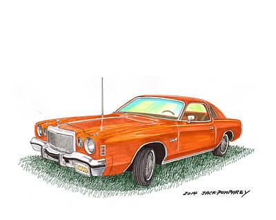 Painting - 1976 Chrysler Cordoba by Jack Pumphrey