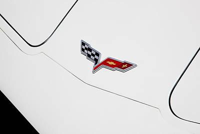 Photograph - 1977 Corvette And New Corvette Emblem by Rich Franco