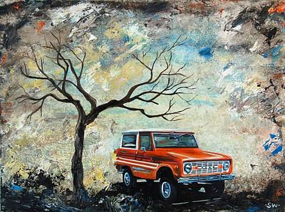 1976 Painting - 1976 Ford Bronco  by Sheri Wiseman