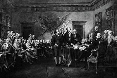 Liberty Painting - 1976 John Trumbulls Rendering by Vintage Images