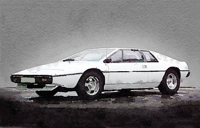 British Mixed Media - 1976 Lotus Esprit Coupe by Naxart Studio