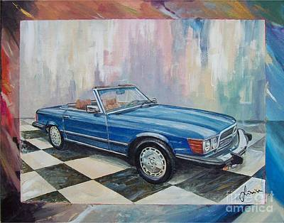 1976 Painting - 1976 Mercedes-benz 450 Sl by Sinisa Saratlic