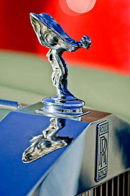 1976 Rolls Royce Silver Shadow Hood Ornament Art Print by Jill Reger