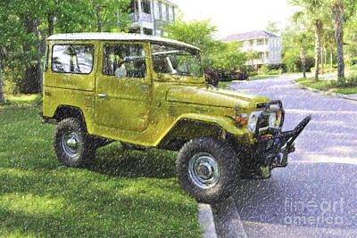 Digital Art - 1976 Toyota Landcruiser by Dale Powell