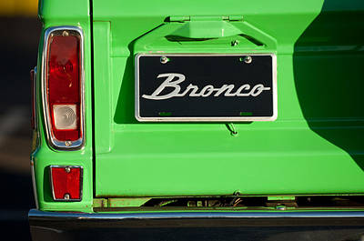 1977 Ford Bronco Taillight Art Print by Jill Reger