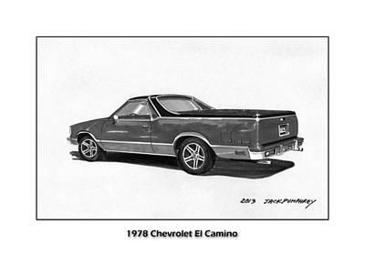 Painting - 1978 Chevrolet El Camino by Jack Pumphrey