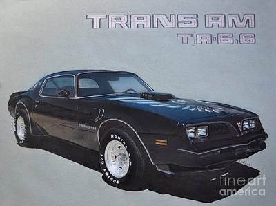 Pontiac Drawing - 1978 Pontiac Trans Am by Paul Kuras