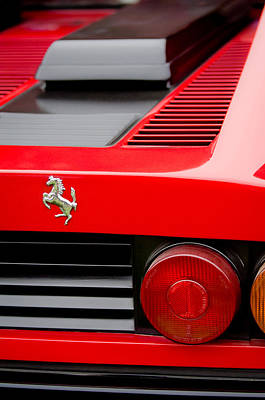 Photograph - 1979 Ferrari Taillight Emblem -0378c by Jill Reger