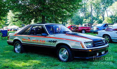 Photograph - 1979 Ford Mustang Indy Pace Car by Grace Grogan