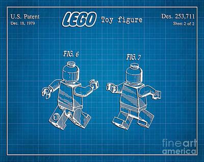 1979 Lego Minifigure Toy Patent Art 2 Art Print
