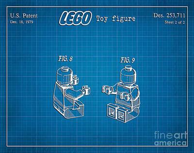 1979 Lego Minifigure Toy Patent Art 3 Art Print