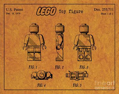 Old Man Digital Art - 1979 Lego Minifigure Toy Patent Art 4 by Nishanth Gopinathan