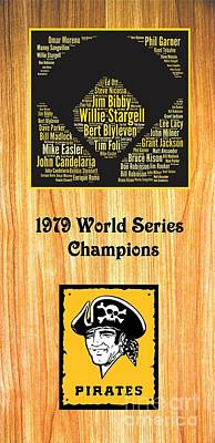 1979 World Series Champion Pirates Art Print