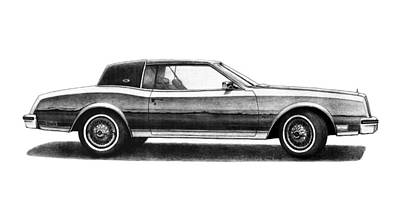 Buick Drawing - 1980 Buick Riviera Coupe by Nick Toth
