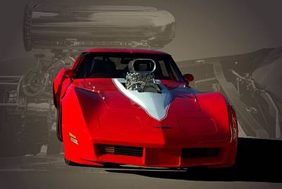 Photograph - 1980 Corvette Pro Street Dragster by Tim McCullough