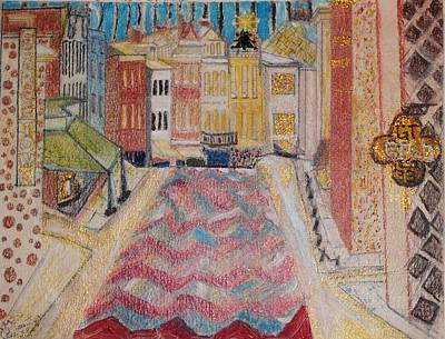 Art Print featuring the painting 1980 Georgetown by Leslie Byrne