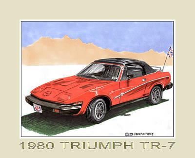 Painting - 1980 Triumph T R 7 by Jack Pumphrey