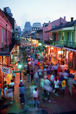 Nola Wall Art - Photograph - 1980s Evening On Bourbon Street New by Vintage Images